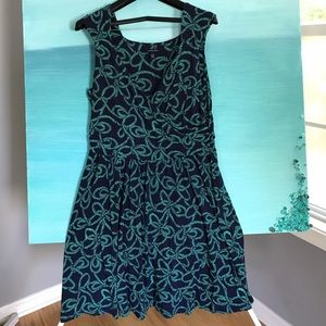 Gorgeous Lands End Nautical Dress in Large 14/16